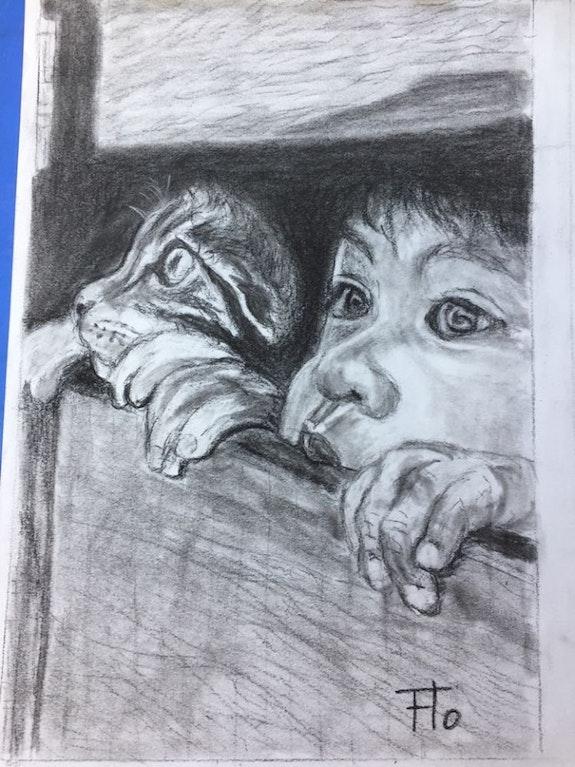 Portrait d'enfant d'après Florence Quesnel. Florence Quesnel Flo