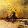 Martigues… Au bord de l'étang… Les cormorans.. Roger Perrier