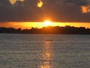 Coucher de soleil à Saint-François - Guadeloupe.