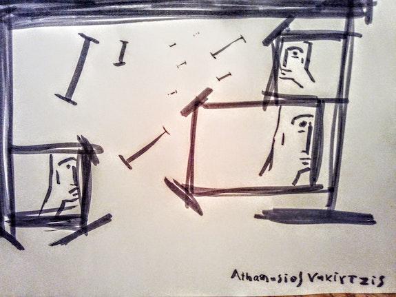 At home. Athanasios Vakirtzis Βιολεττα Υανού