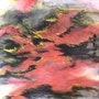 Sh 26 - Charming Red - Original Abstract Ink Painting On The Rice Paper. Zhongwu 仲吾