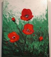 Fleurs de velours / Velvet flowers / Flores de terciopelo. Caroline Colomina