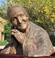 Berthe (Imer) Girardet (° 1861 - + c; 1940) : Vieille femme priant.. Historien d'art, Archéologue; Chercheur Free-L.