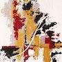 Décoratif, acrylique et techniques mixtes sur toile, format 30 X 24 cm. Sophie Lecesne