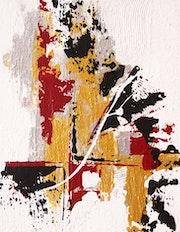 Décoratif, acrylique et techniques mixtes sur toile, format 30 X 24 cm.