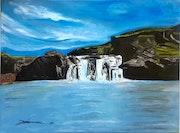 Laxfoss - Nordura River - Iceland. Arlette Sanz Dutheil