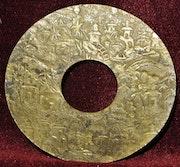 Garde de sabre, en laiton. Asie.. Historien d'art, Archéologue; Chercheur Free-L.