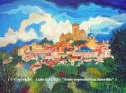 Vezelay. Alain Faure En Peinture