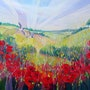 Summer on the Downs is an original, very large oil painting on canvas. Gill Bustamante - Artist