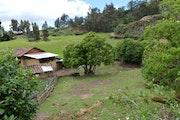 Paisaje de vivienda rural andina. Hamilton Izaguirre Vasquez