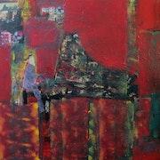 Musique lumiere rouge ou jazz pianist.