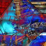 Blue stairs. Paule Ducharm