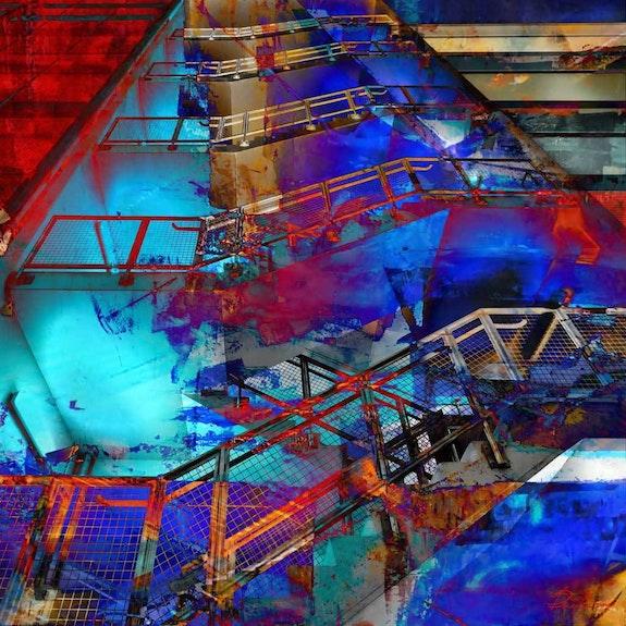 Blue stairs. Paule Ducharm Paule Ducharm