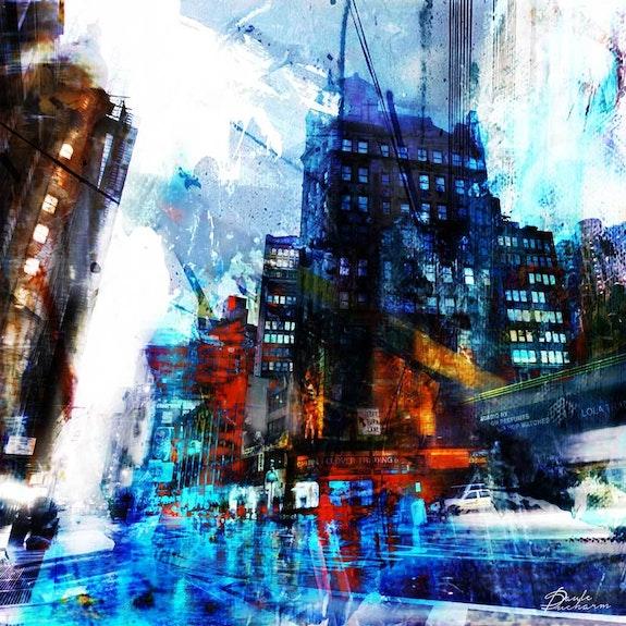Street-in-the-rain-NY. Paule Ducharm Paule Ducharm