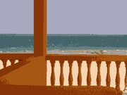 Beach view in the floppy disk. Paul Von Schatzwert