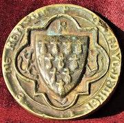 Tirage en bronze d'un sceau (? ). Sceau & tirage énigmatique, d'Anne de Bretagne. Historien d'art, Archéologue; Chercheur Free-L.