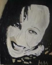 Sandrine noir et blanc. Jaja