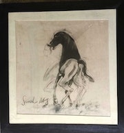 Horse, Charcoal on Paper by Modern Artist. Online Art Gallery