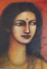Radha, Mixed Media on Canvas by Modern Artist. Online Art Gallery