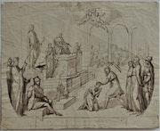 Jacques-Louis. David (1748-1825), étude, v° : Décapitation d'un Saint (Paul ? ).. Historien d'art, Archéologue; Chercheur Free-L.