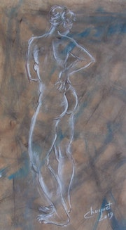 Femme nue de dos. Christian Choquet