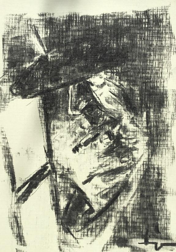 Textured 9: Smoker at the Window. Dominique Dève Dominique Dève