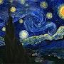 La nuit étoilée d'après Van Gogh. Virginie Blondeau