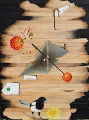 Rugissement… (Acrylique sur bois 80cm x60cm). Dany Viaud