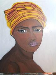 Portrait d'une Africaine.
