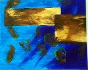 Bleu or et ocre.