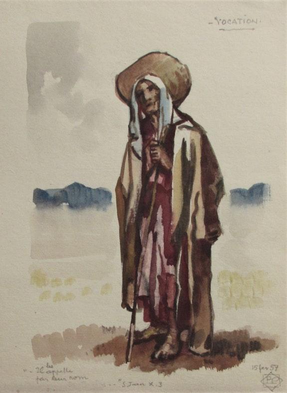 Paul (Marie). Pruvost (° 1889 +1968) : la Vocation (15/02/1957). Paul (Marie). Pruvost (° 1889 +1968) : La Vocation (15/02/1957) Historien d'art, Archéologue; Chercheur Free-L.