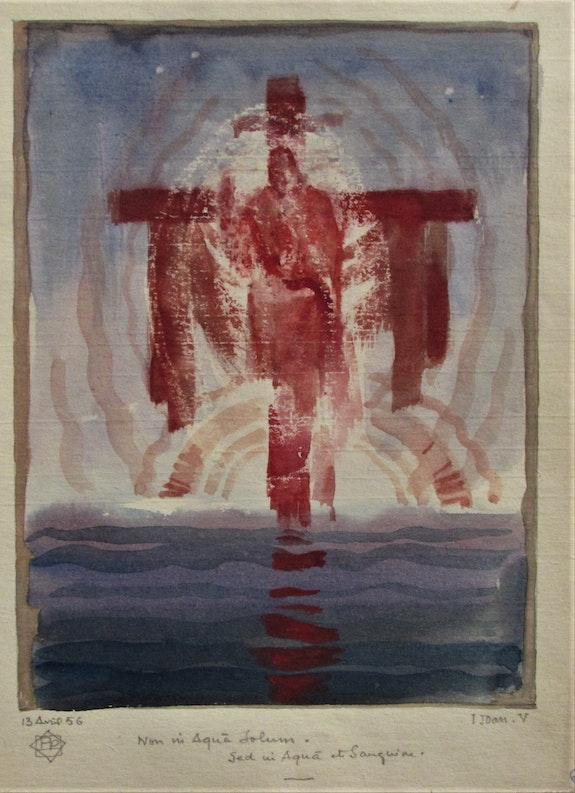 Paul (Marie). Pruvost (° 1889 +1968) : Apparition du Christ, (13/04/1956). Paul (Marie). Pruvost (° 1889 +1968) : Apparition Du Christ, (13/04/1956) Historien d'art, Archéologue; Chercheur Free-L.