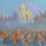 Tadj Mahal. Yamuna prayers. Alex Hook Krioutchkov