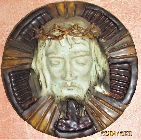 Paul (-Marie) pruvost : face nimbée du Christ.. Paul (-Marie) Pruvost : Face Nimbée Du Christ. Historien d'art, Archéologue; Chercheur Free-L.