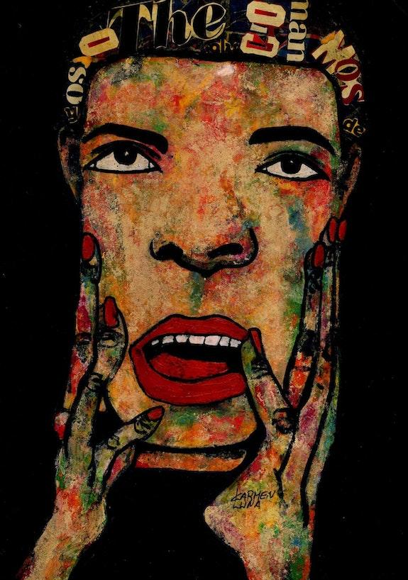 54- Sorpresa. (Retratos Expresionistas).. Carmen Luna