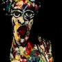63- La Bella Cubana. (Retratos Expresionistas).. Carmen Luna