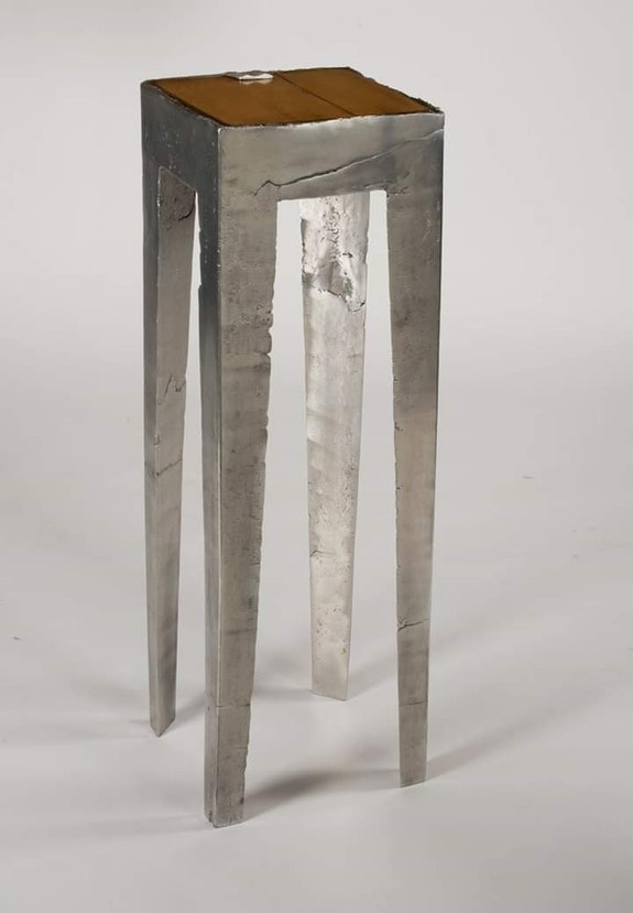 Sellette fusion d'aluminium. Régis Martin Pluri'arts