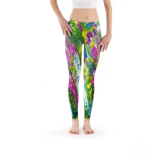 «Mother Nature» Art Legging & T-shirt - Urban Yoga Collection by moti. Moti Moti