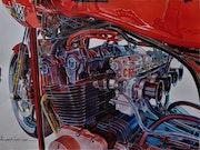 Honda de compétition. Gilbert Verani