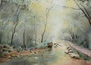 Fond de vallée dans le parc de ZhangJiaJie. Christine Crehalet
