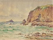 Léon. Hamoney, (1877-1953) : Le site du Cormoran à Erquy, Bretagne.. Historien d'art, Archéologue; Chercheur Free-L.