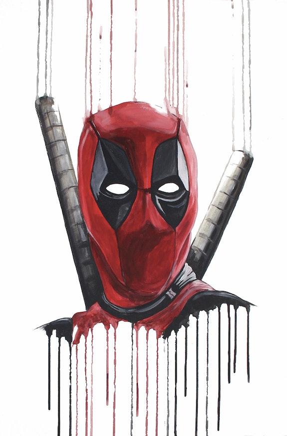 Deadpool - Peinture acrylique du super-héros comique hilarant. Mr B Mr. B.