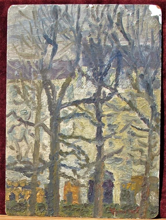 Vincent (Van Gogh), (attribuable à ? ), Probable faux : arbres sur fond urbain ?. Vincent (Van Gogh), (Attribuable À ? ), Probable Faux : Arbres Sur Fond Urbain ? Historien d'art, Archéologue; Chercheur Free-L.