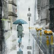 Nyc : Femme au parapluie. Vincent Bourdin