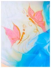 Foulard en soie - peinture sur soie.