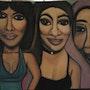 Nayanka, Josey, Aïcha (Chanteuses). Evelyne Patricia Lokrou