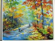 Balade en forêt en automne.