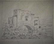 Dessin des ruines d'une porte-pont, en 1827.. Historien d'art, Archéologue; Chercheur Free-L.