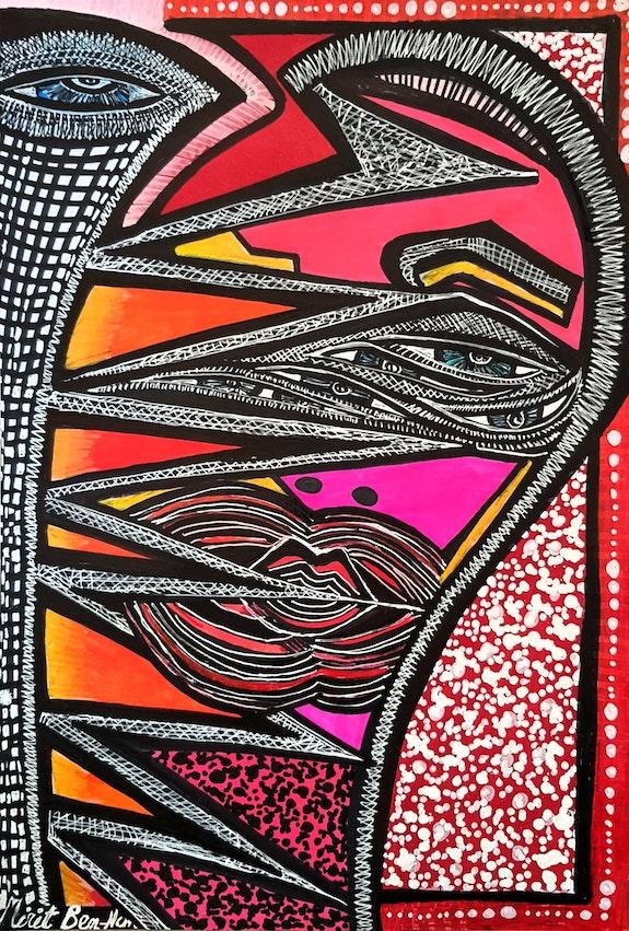 Estudio artistico israeli recibe grupo pintora contemporanea. Mirit Ben-Nun Mirit Ben-Nun