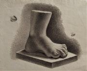 Études d'un pied, et d'orteils (d'après l'Antique ? ). Anonyme. 1833.. Historien d'art, Archéologue; Chercheur Free-L.